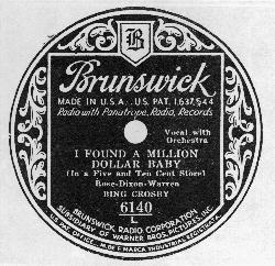 Bing on Brunswick Records: 1931-1934