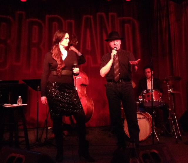 Sitting in with Nancy Harms at one of her Birdland Jazz Parties, NYC.